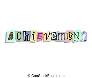 Achievement Paper Letters