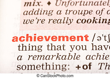 Achievement Word Definition