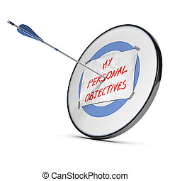 Achieving Personal Objectives or Goals - One arrow hits the...