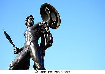 Achilles Wellington Monument - The Victorian bronze Achilles...