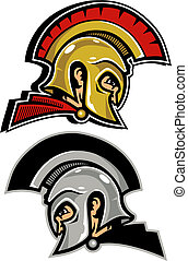 achillles and hector - greek and trojan warrior heads