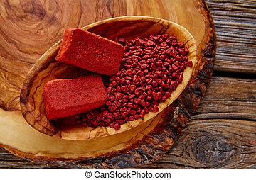 achiote, annatto, méxico, condimento, semilla, popular