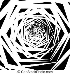 achtergrond., abstract, artistiek, spirally