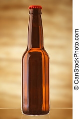 achtergrond, abstract, bier, warme, fles, blonde