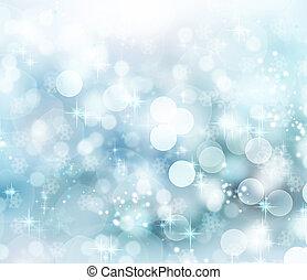 achtergrond., abstract, bokeh, kerstmis, winter
