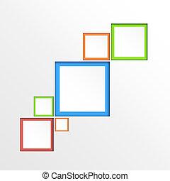 achtergrond., abstract, geometrisch, 3d