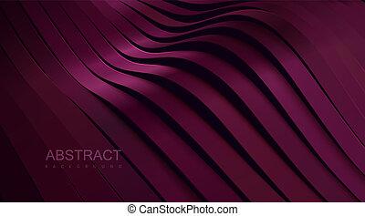achtergrond., abstract, golvend, linten