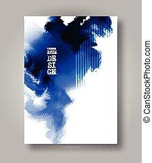 achtergrond., abstract, inkblot