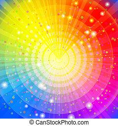 achtergrond, abstract, regenboog