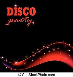 achtergrond., abstract, vector, illustratie, disco
