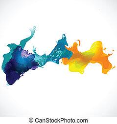 achtergrond, abstract, vector, kleurrijke, illustratie