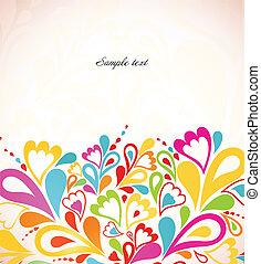 achtergrond., abstract, vector, kleurrijke, illustratie