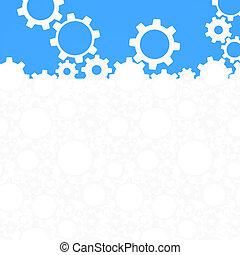 achtergrond., abstract, vector, tandwiel, illustratie