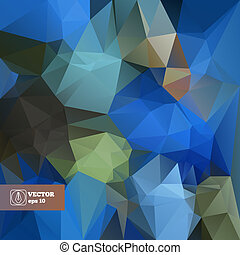 achtergrond., abstract, vector, trianlges