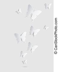 achtergrond., abstract, vlinder