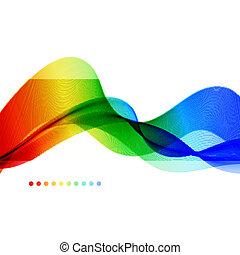 achtergrond., abstract, wave., kleurrijke, spectrum
