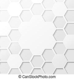 achtergrond., abstract, zeshoek