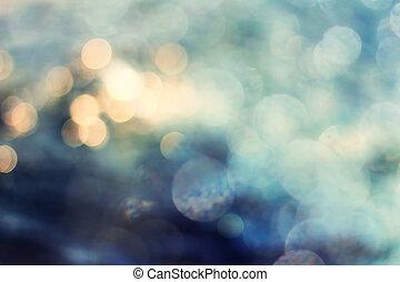 achtergrond, achtergrond., lichten, abstract, feestelijk, elegant, bokeh, sterretjes, kerstmis