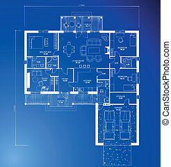 achtergrond., architecturaal, vector, bouwschets