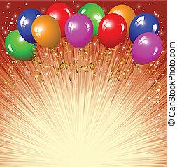 achtergrond, ba, kleurrijke, feestelijk