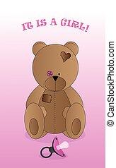 achtergrond, beer, teddy