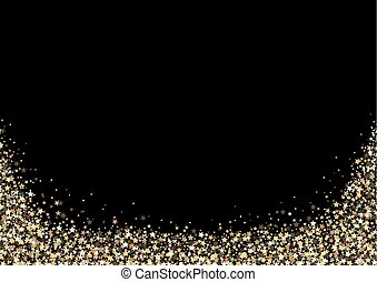 achtergrond, black , goud, sterretjes
