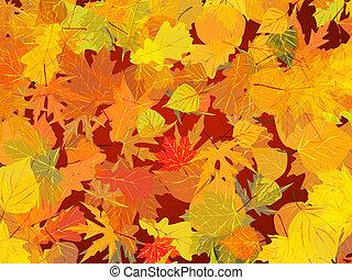 achtergrond., bladeren, herfst