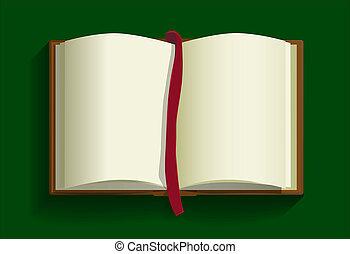 achtergrond., boek, open