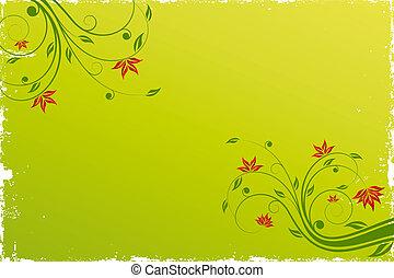 achtergrond, boekrol, floral