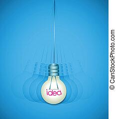 achtergrond, bol, licht, schudden, idee