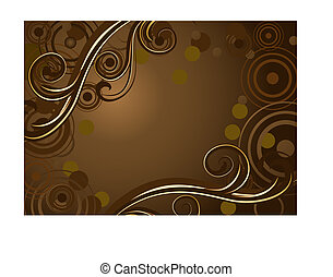 achtergrond, chocolade