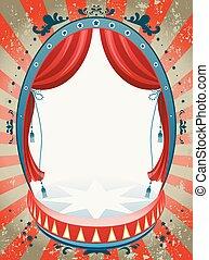 achtergrond, circus, ouderwetse