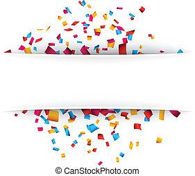 achtergrond., confetti, viering