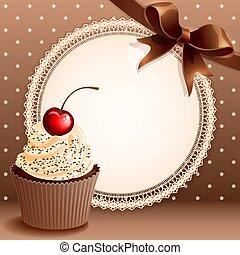 achtergrond, cupcake