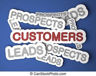 achtergrond., customers., zakelijk