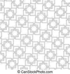 achtergrond, delicaat, vector, pattern., arabische