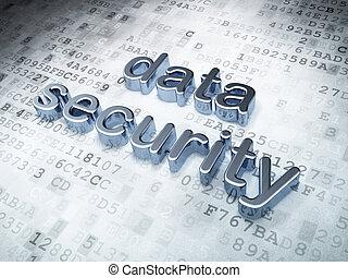 achtergrond, digitale , veiligheid, data, zilver, concept:
