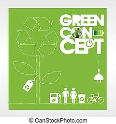 achtergrond., ecologie, concept