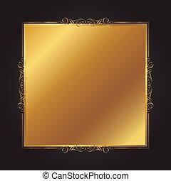 achtergrond, elegant, frame, black , 0909, decoratief, goud