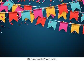 achtergrond., feestje, viering