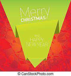 achtergrond, floral, kerstmis, vector, boog, rood