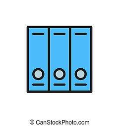 achtergrond, folders, vrijstaand, plat, bestand, icon., kleur, witte