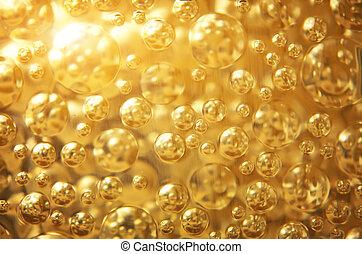 achtergrond, goud, texture.