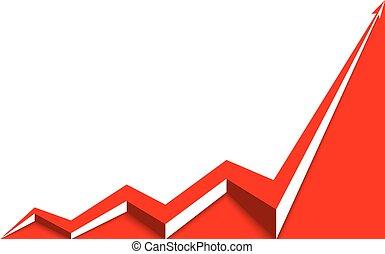 achtergrond, grafiek, opstand, richtingwijzer, wit rood