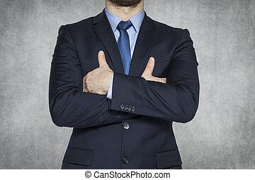 achtergrond, grijze , zakenmens