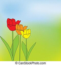 achtergrond, groen streep, lente, mooi