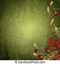 achtergrond, grunge, groene