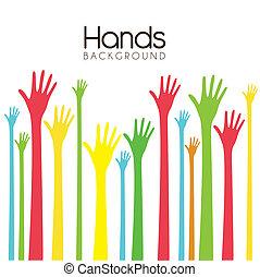 achtergrond, handen