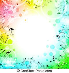 achtergrond, helder, floral