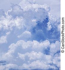 achtergrond., hemel, wolken
